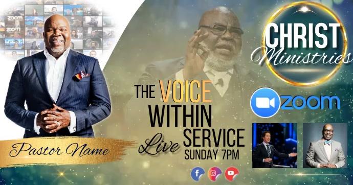 church live service template Gambar Bersama Facebook
