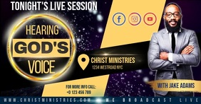 cHURCH LIVE SESSION TEMPLATE Facebook Shared Image