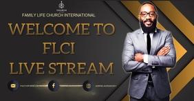 CHURCH LIVE STREAM THUMBNAIL Design Template
