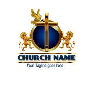 church logo, christian logo, cross logo, Logotipo template