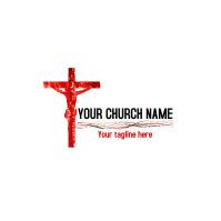church logo, cross logo, jesus logo, template
