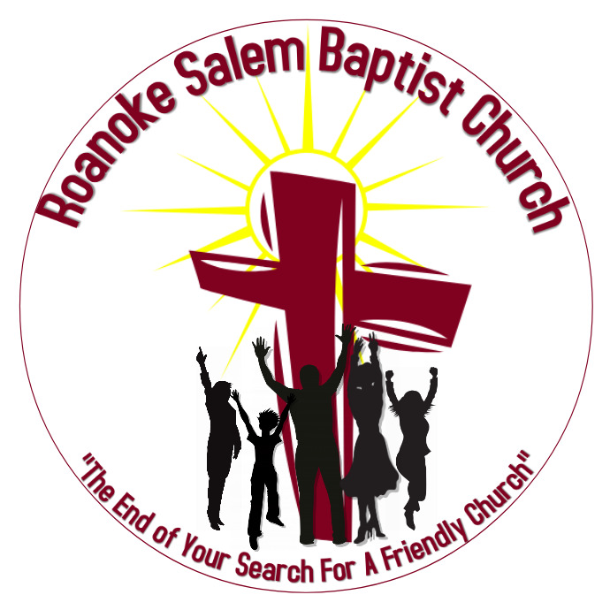 Church logo with logo with silhouette people Template
