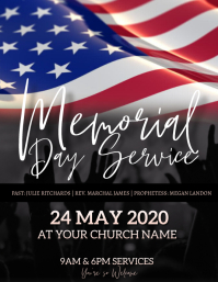 Church Memorial day service Flyer Template