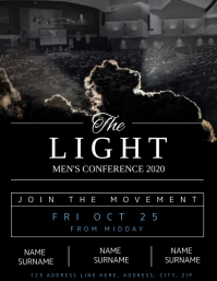 Church Men's Conference Flyer template