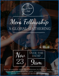 Church Men's Fellowship Flyer Template