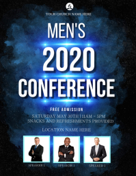 CHURCH MEN CONFERENCE EVENT AD Flyer Template