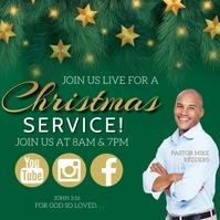 CHURCH MERRY CHRISTMAS template Instagram 帖子