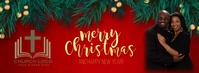 CHURCH Merry Christmas wishes design template Facebook Cover Photo