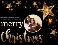 CHURCH MERRY CHRISTMAS WISHES Template Pamflet (Letter AS)