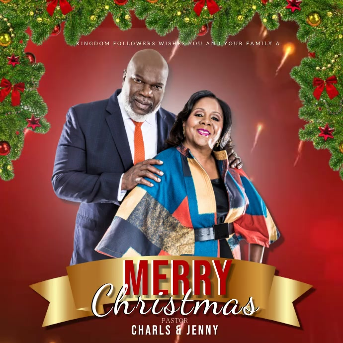 CHURCH MERRY CHRISTMAS WISHES Template Wpis na Instagrama