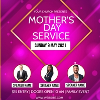 CHURCH MOTHER'S DAY Event AD Template Square (1:1)