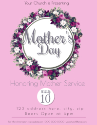 Church Mother's Day Event Flyer Template