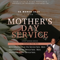 CHURCH MOTHER'S Day Event Flyer Template Kwadrat (1:1)