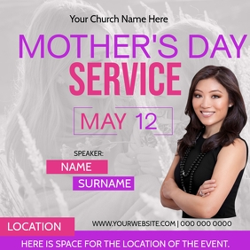 Church Mother's Day Event Template
