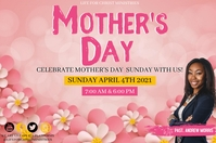 CHURCH MOTHER'S DAY ONLINE TEMPLATE Banner 4' × 6'
