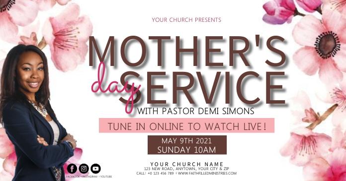 CHURCH MOTHER'S DAY SERVICE SERMON TEMPLATE Gambar Bersama Facebook