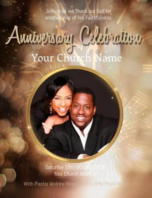 Church New Year Celebration Event Template Flyer (Letter pang-US)