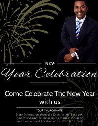 Church New Year Event Flyer Template