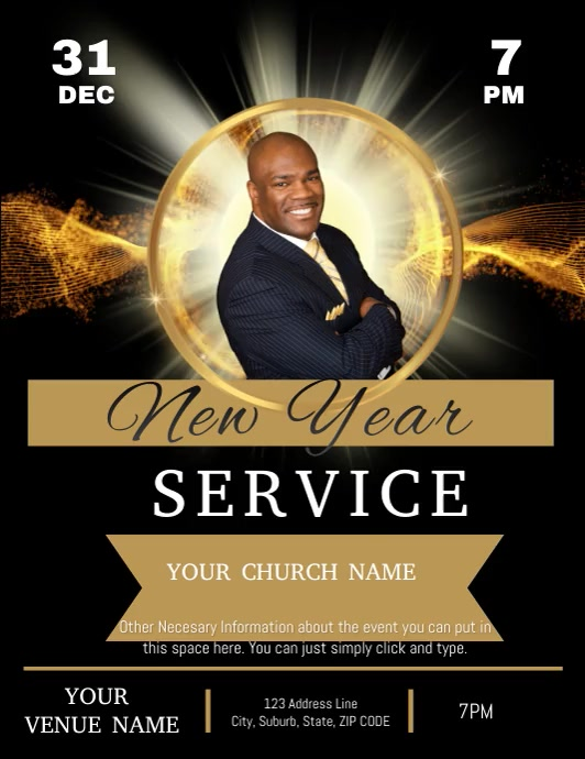 CHURCH NEW YEAR SERMON SERVICE TEMPLATE