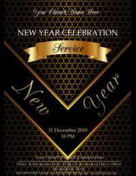 Church New Year Service Event Template