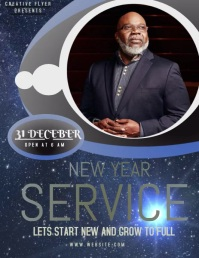 CHURCH NEW YEAR SERVICE FLYER TEMPLATE