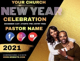 CHURCH NEW YEARS AD TEMPLATE Flyer (format US Letter)