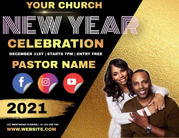 CHURCH NEW YEARS AD TEMPLATE Folder (US Letter)