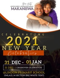 CHURCH NEW YEARS CELEBRATION TEMPLATE Flyer (US Letter)