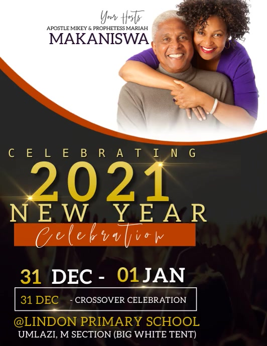 CHURCH NEW YEARS CELEBRATION TEMPLATE Ulotka (US Letter)