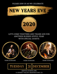 Church New Years Eve Celebration Template