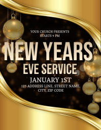 Church New Years Eve Event Flyer Template