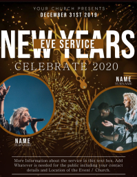 Church New Years Event Flyer Template