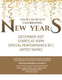 Church New Years Service Event Template