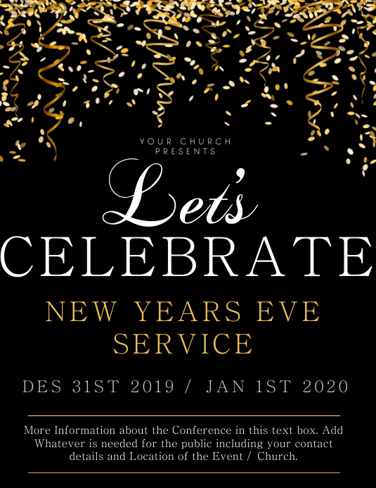 Church New Years Service Flyer Template | PosterMyWall