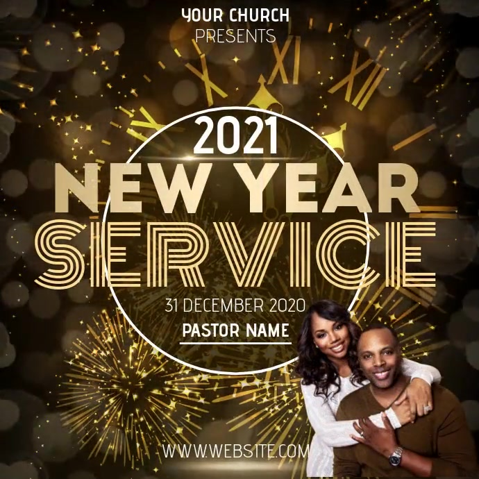 CHURCH NEW YEARS SERVICE ONLINE Kwadrat (1:1) template