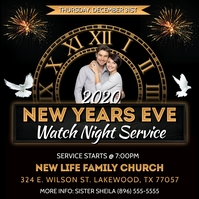 CHURCH NEW YEARS WATCH NIGHT FLYER TEMPLATE Album Cover