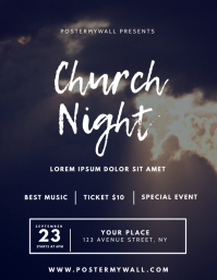 Church Night Flyer Design Template