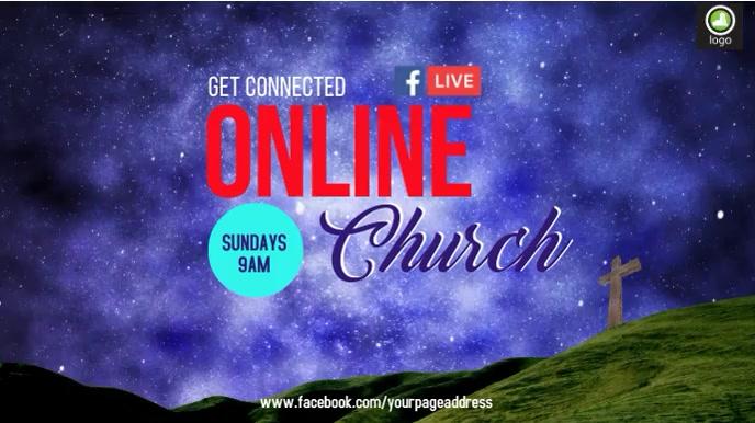 Church Online Digitale display (16:9) template