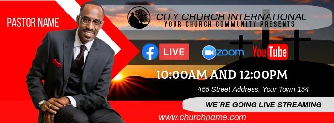 church online Facebook Omslag Foto template