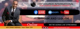 church online รูปภาพหน้าปก Facebook template