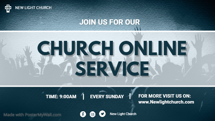 Church Online Twitch Banner template