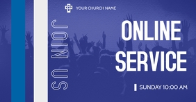 Church online Facebook Shared Image template
