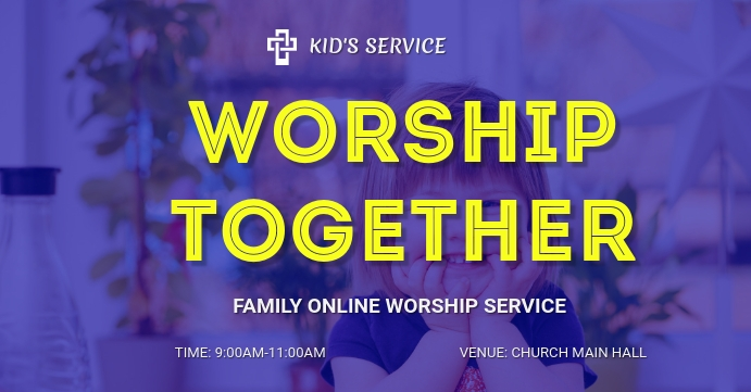 Church Online flyer Facebook begivenhed cover template