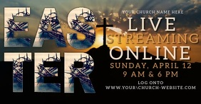 church online from home template Facebook Shared Image