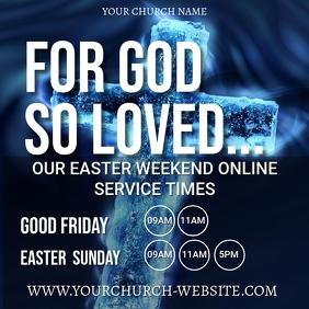 church online from home template Quadrat (1:1)