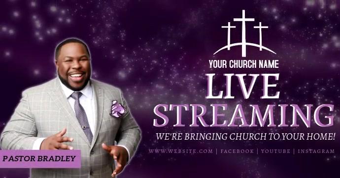 church online from home template Gambar Bersama Facebook