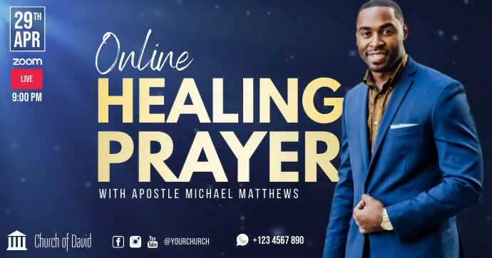 Church online healing prayer facebook ad template