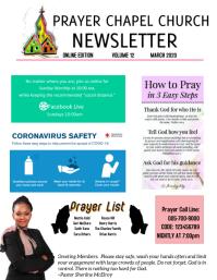 Church online newsletter