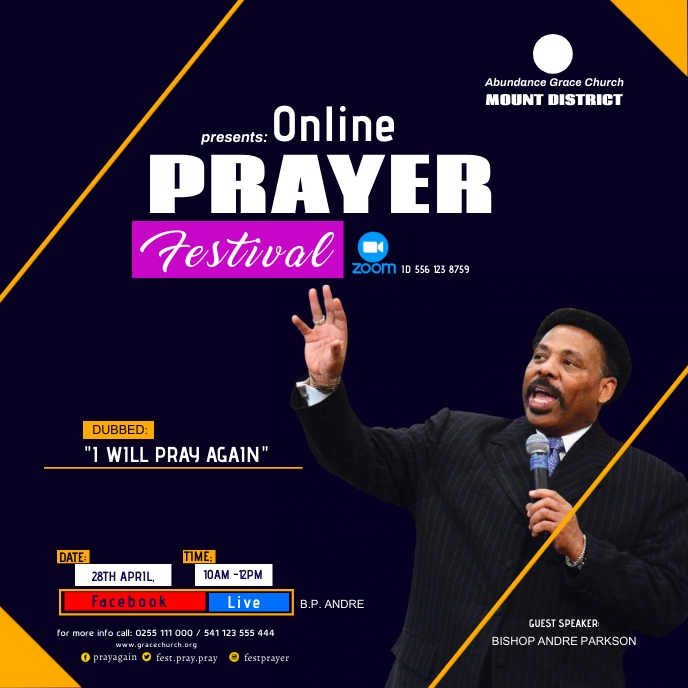 church online poster Albumcover template