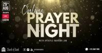 Church online prayer night facebook shared template